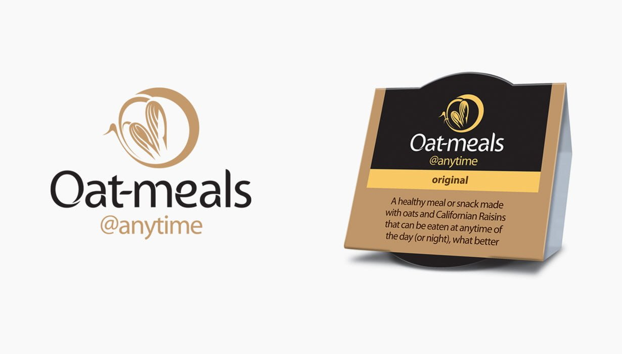 Oatmeals branding and packaging